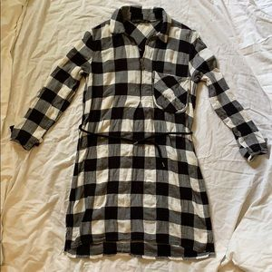 Zara Basic Buffalo Check Dress